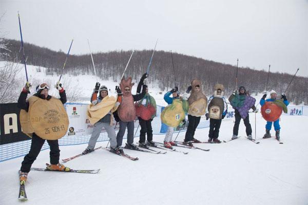 La sfilata sugli sci